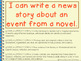 Writing a News Story for a Scene From a Story or Novel Pow