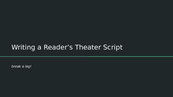 Writing a Reader's Theater Script Presentation