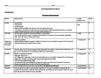 Writing a Science Report - Requirements for Discussing Res