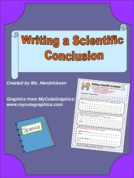 Writing a Scientific Conclusion: Graphic Organizer with Pa