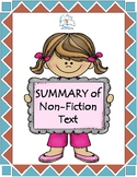 Writing a Summary for Non-Fiction Texts