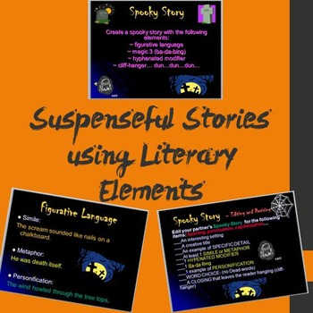 Writing a Suspenseful Story using Literary Elements