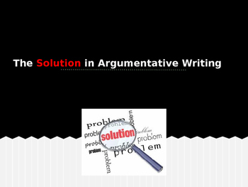 Writing an Argumentative Essay SOLUTION paragraph