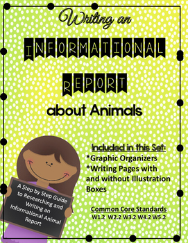 Writing an Informational Report About Animals