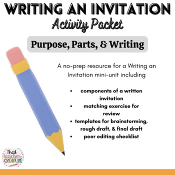 Writing an Invitation - Mini Unit