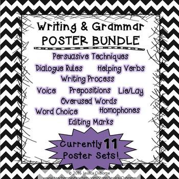 Writing and Grammar Poster BUNDLE