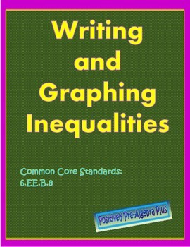 Writing and Graphing Inequalities Worksheet