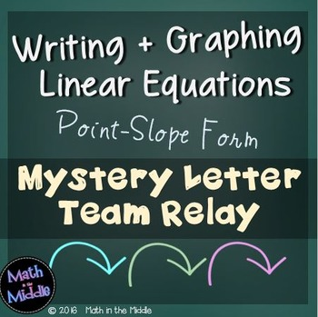 Writing and Graphing Linear Equations (Point-Slope Form) T