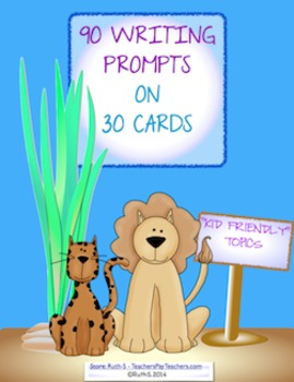 Writing and Journal Prompt Task Cards