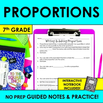 Writing and Solving Proportions Notes