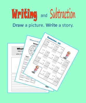 Writing and Subtraction:  Draw a picture. Write a story.
