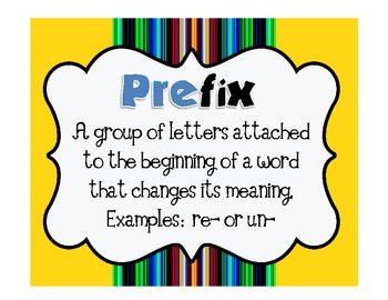 FREE Writing and Word Work Definition Signs and Student Mi