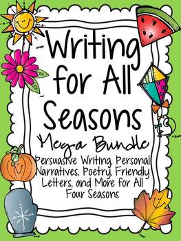 Writing for All Seasons Bundle: Poetry, Personal Narrative