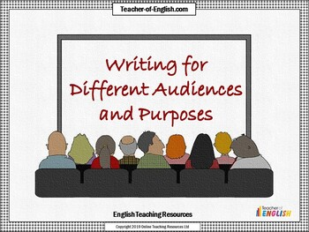 Writing for Different Audiences and Purposes