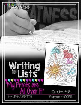 Writing from Lists: My Prints Are All Over It