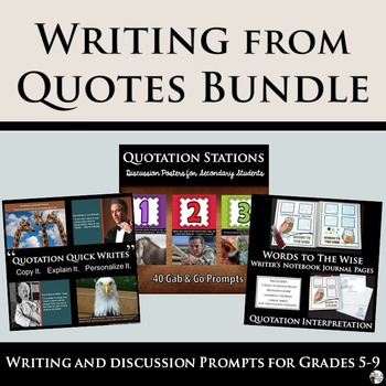 Writing from Quotes Bundle