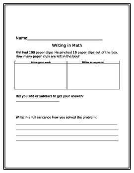 Writing in Math 6