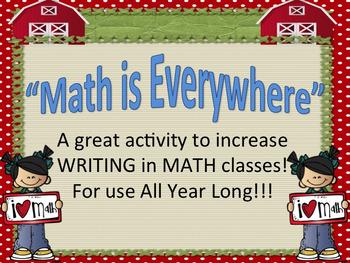 Writing in Math Class!  Cross-Curricular Activity!