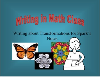 Writing in Math Class - Writing about Transformations for
