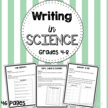 Writing in Science - Cross Curricular Ideas for the Scienc