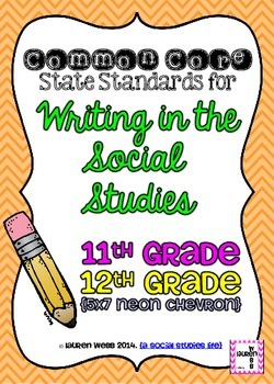 11th and 12 grade Writing in Social Studies Common Core St