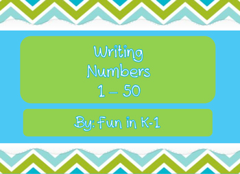 Writing numbers 1 - 50