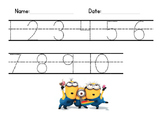 Writing numbers with minions 1-20