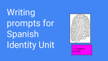 Writing prompts for discussing Identity