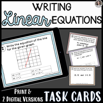 Writing the Equation of the Line Task Cards