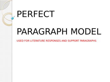Writing the Perfect Paragraph