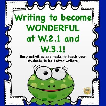 Writing to Become Wonderful at W.2.1 and W.3.1 - Fun Writi