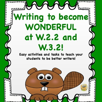 Writing to Become Wonderful at W.2.2 and W.3.2 - More Writ