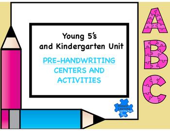 Writing unit Kindergarten 1st Grade  Handwriting NO PREP w