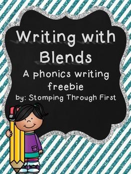 Writing with Blends: A phonics writing FREEBIE