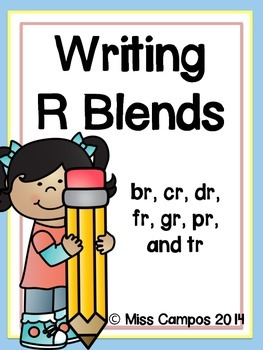 Writing with R Blends: 7 Little Writers' Readers