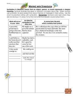 Writing with symbolism - Lesson and practice worksheet page