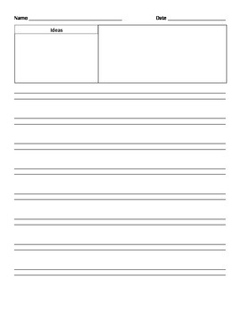 Writng Booklet for Lucy Calkins Narrative and HWT