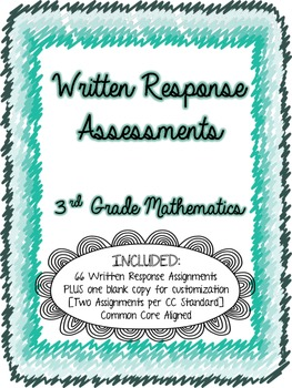 Written Math Assessments: Third Grade