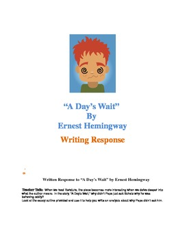 "Written Response: ""A Day's Wait"" by Ernest Hemingway"