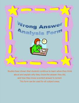 Wrong Answer Analysis Form