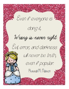 Wrong is Never Right LDS Printable