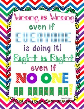 Wrong is Wrong, Right is Right Poster