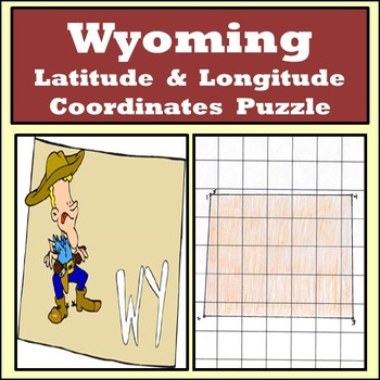 Wyoming State Latitude and Longitude Coordinates Puzzle -