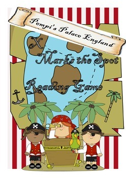 """X Marks the Spot"" Pirate Reading Game"