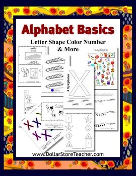 X - Teaching the letter X  Basic Alphabet Curriculum Dayca