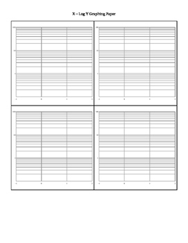 X and Log Y Plane Graph Paper - Four per Page