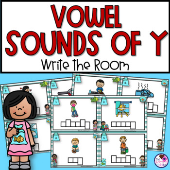 Y as As A Vowel Sound Write the Room