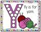 Y is for Yarn Activity Pack Alphabet Common Core Preschool