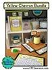 YELLOW CHEVRON Classroom Decor - EDITABLE Clutter-Free Cla