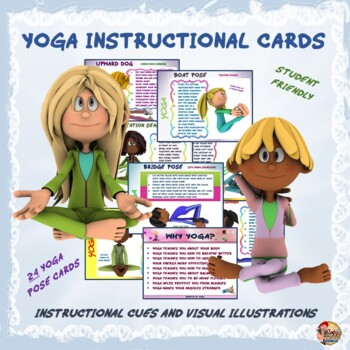 """YOGA Instructional Cards- """"Kid Friendly"""" Cues and Visual I"""